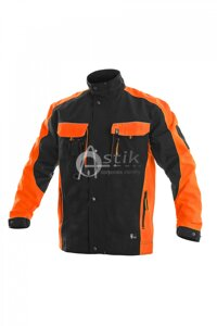 Herrenbluse SIRIUS BRIGHTON Black-orange